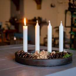 Rund ljusstake advent