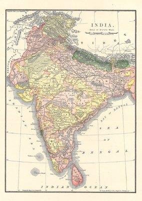 Indien Karta Prints Papper