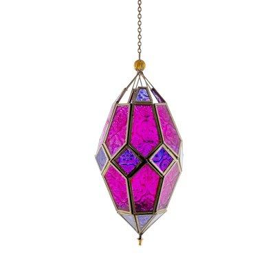 Droppformad Hangande Ljuslykta Purple