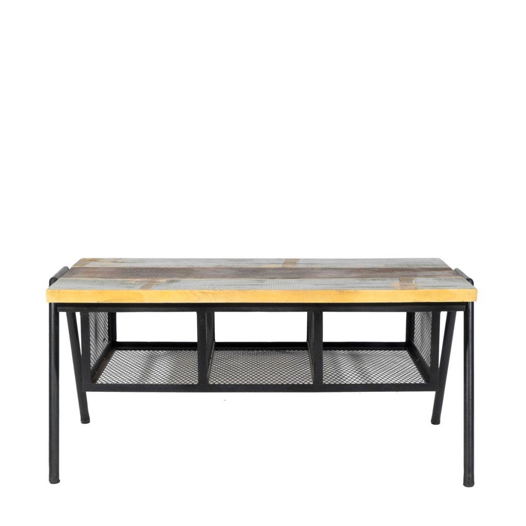 Soffbord bänk medåtervunnet trä