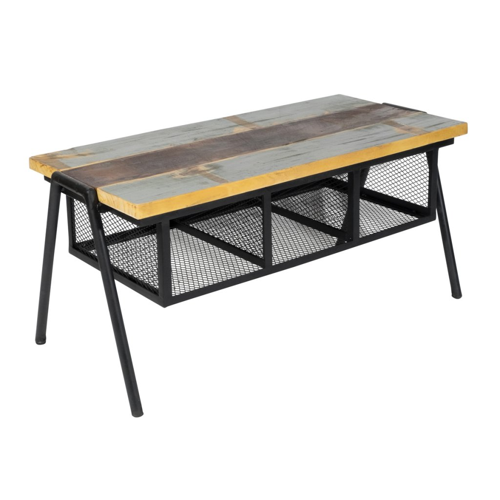 Soffbord bänk medåtervunnet trä Möbler